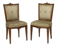 A Set of Six Louis XVI Mahogany Dining - Chairs