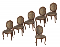 A Set of Six Louis XVI Dining - Chairs