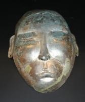 A silver death mask