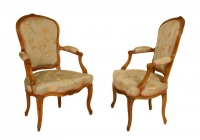 A Pair of Louis XV Armchairs
