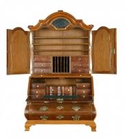 A Miniature Fine Bureau with Top, Also Know as a Mirrortop Bureau