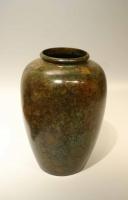 A green patinated bronze vase Japanese art