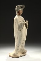 Fat Lady pottery scuplture Chinese Tang Ceramics