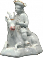 Goat with Rider in Dutch Delftware