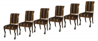 A Set of Six Mahogany Empire Dining Chairs