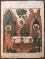 Heilige drie-eenheid houten ikoon Triniteit Russische ikonen, iconen