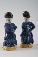 Pair Polychrome Delft Figures