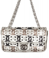 Chanel CC Cutout Metallic Flap Bag - Limited Edition