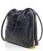 Chanel Black Chevron Quilted Leather Shoulder Bag - Chanel