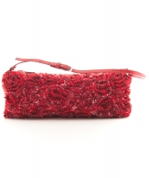 Valentino Garavani Red Satin Beaded Evening Bag - Valentino