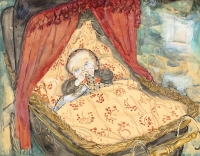 Baby in cradle - Jan Sluijters