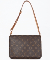 Louis Vuitton Brown Monogram Musette Tango Shoulder Bag