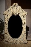 Spiegel in been gemaakt door krijgsgevangenen, Engeland, ca. 1800