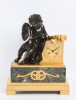 A French Charles X ormolu and bronze mantel clock, circa 1830