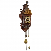 A good Dutch Zaanse rosewood wall clock, by Cornelis van Rossen, circa 1700