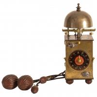 Een kleine Japanse messing lantaarnklok, omstreeks 1800