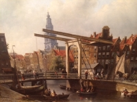 Town-view on Amsterdam, the Zuiderkerk