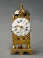 Northern French miniature table-lantern clock, Louis XVI, ormolu cage, circa 1790-1800