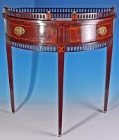 Louis XVI style mahogany demi lune table, Dutch ca. 1850
