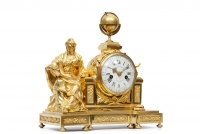 A fine French Louis XVI mantel clock 'Urania' by Gille L'Aîné, the case by Chevalier, circa 1760.