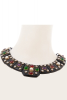 Chanel Masterpiece Gripoix Bakelite Squares Cleo Necklace - Chanel
