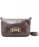 Céline Vintage Brown Leather Shoulder Bag