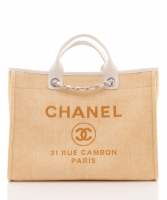 Chanel 'Deauville' Tote Bag in Sandcolor Jacquard