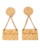 Chanel Handbag Clip On Earrings
