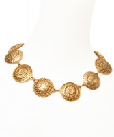 Chanel Medallion Necklace with Clip On Earrings