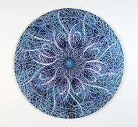Untitled (Black Hole, Blue) - Ryan McGinness