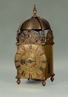 A lantern clock by Thomas Wheeler, England, circa 1685.
