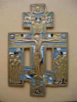 Russisch zegenkruis, Russische metaal ikonen, iconen