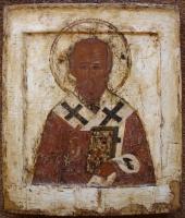 Heilige Nicolaas, Russische houten ikoon, iconen, Rusland