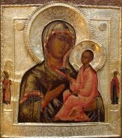 Moeder Gods van Tichvin, Russische houten ikoon, iconen
