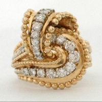 gold & diamond dress ring