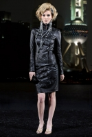 Pre-Fall 2010 Shanghai Collection Runway Chanel Leather Camelia Skirt