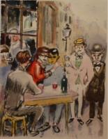 Au Beaux Temps de la Butte, written by Roland Dorgelès. Full page colour lithographs by Kees van Dongen