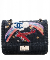 Chanel Denim Multicolor Embroidered Flap Bag - Limited Edition