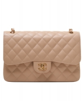 Chanel  Jumbo Beige Caviar 2.55 Classic Flap Bag - Chanel