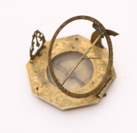 A German brass pocket sundial Andreas Vogler, circa 1740