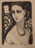 Girl with Necklace (Le collier de perles)
