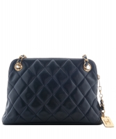 Chanel Dark Blue Quilted Leather Shoulder Bag - Chanel
