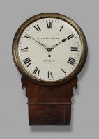 Vroeg 19de eeuw mahoniehouten 'drop dial'  wandklok,  Handley & Moore, London, c. 1810.