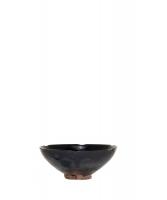 Chinese stoneware tea bowl with black glaze,Cizhou type