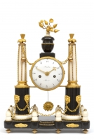 A fine french Louis XVI marble and ormolu mantel clock, Baudin circa 1770