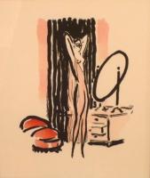 La Garçonne, tekst Victor Margueritte. Staand halfnaakt voor Spiegel