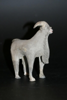 A Chinese grey earthenware goat, Han Dynasty Ceramics from China.