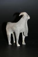 Chinees grijs aardewerk sculptuur geit, Han Dynastie keramiek China