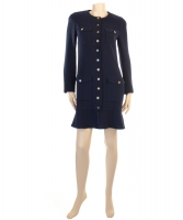 Chanel Blue Robe Manteau