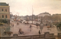 Amsterdam, view on Theater Carré on a rainy day in 1938